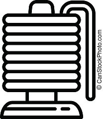 Magnetic coil icon, outline style