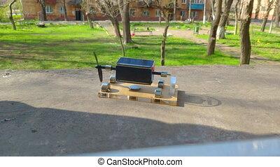 Magnetic levitation. Perpetuum mobile Solar battery