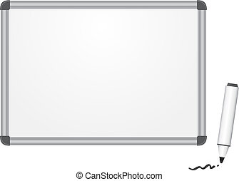 Magnetic marker board - The magnetic white marker board...