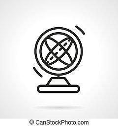 Magnetic pendulum black simple line vector icon - Round...