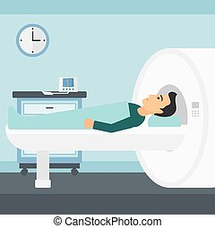 Magnetic resonance imaging.