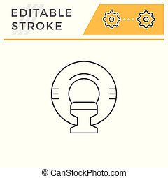 Magnetic resonance imaging line icon isolated on white. Editable stroke. Vector illustration