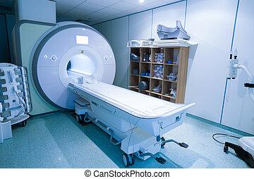 Magnetic resonance spectroscopy machine in hospital...