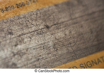 magnetic strip - macro pattern of pretty used magnetic strip...