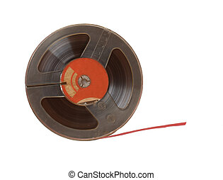 Magnetic tape isolated on white background