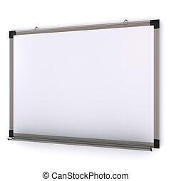 magnetico, isolato, wall., interpretazione, asse, bianco, 3d