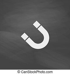 magnetism computer symbol - magnetism Simple vector button....