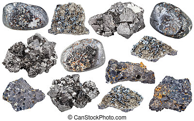 magnetite mineral tumbled stones, rocks, crystals