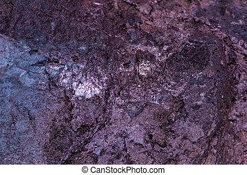 magnetite stone in a closeup