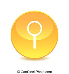 magnifer , magnifer icon on the background , vector