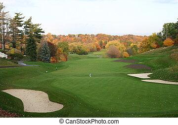 magnificant, otoño, golf