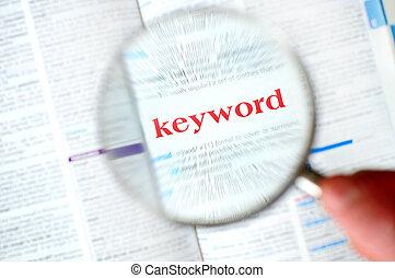 magnificar, keyword, mão