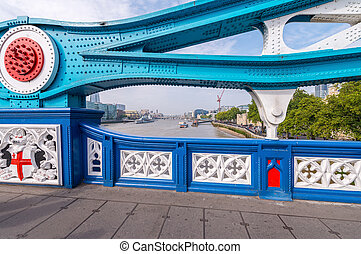 Magnificence of Tower Bridge on a sunny day - London.