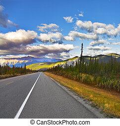 Magnificent American road. North