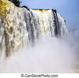 Magnificent and well-known Iguazu Falls