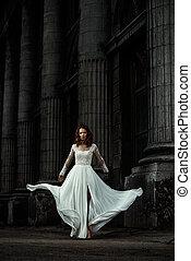 magnificent bridal dress - Beautiful fashion model in...