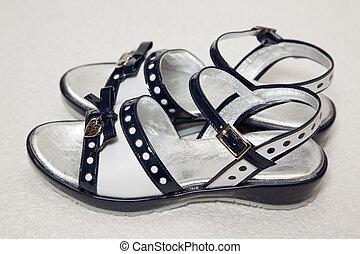 Magnificent dark blue children\'s sandals