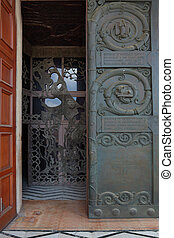 Magnificent doors of the Church of All Saints in Jerusalem.