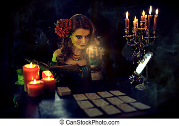 woman reading future - Magnificent fortune teller woman ...