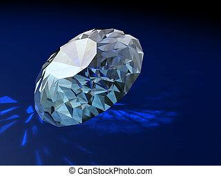 Magnificent gift brilliants diamonds of an ornament -...