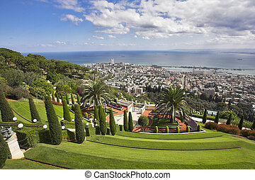 Magnificent landscape - Bahay gardens and Haifa