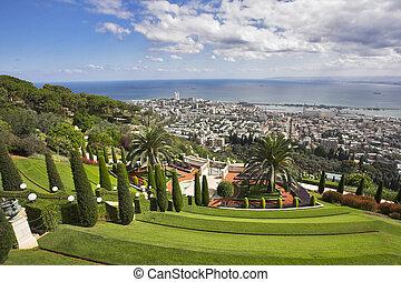 Magnificent landscape - Bahay gardens and Haifa