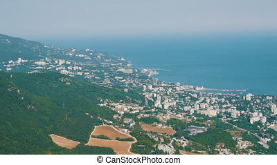 Magnificent landscape of Crimean mountains near Yalta -...