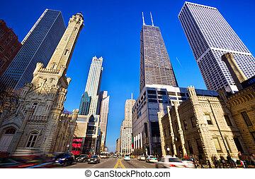 Magnificent Mile in Chicago, IL, US