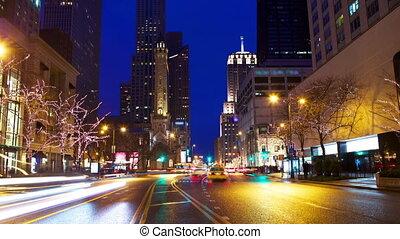 Magnificent Mile Traffic - Michigan Avenue and Magnificent...