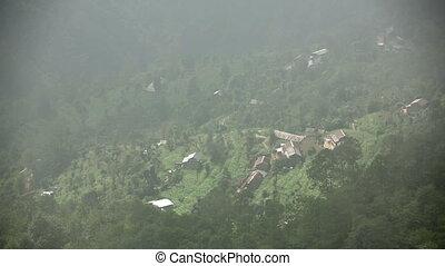 Magnificent mountain village view at Nagarkot, Kathmandu,...