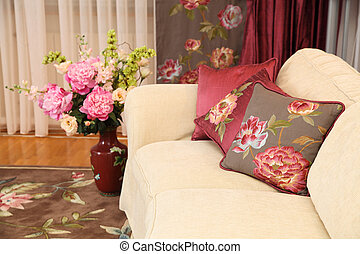 magnificent sofa with a pillow
