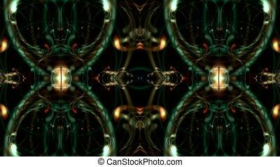 magnificent spiral flower pattern, lights, optical fiber, silk.