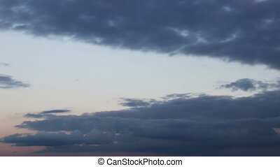 Magnificent Storm clouds. Background. Time Lapse - asfd sdfh...
