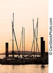 magnificent sunrise at jetty