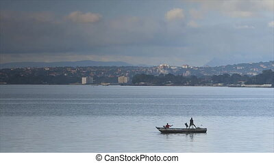 Magnificent view of Conakry city  from the  Ocean