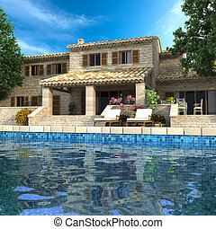 Magnificent villa with pool