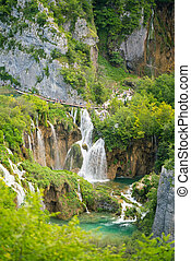 magnificent waterfalls in Plitvice National Park