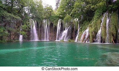 magnificent waterfalls in Plitvice National Park, Croatia.