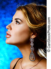 magnificent young woman - Beautiful young woman with evening...