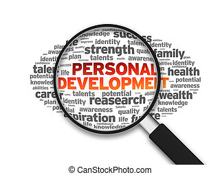 Personal Development - Magnified illustration with the word...