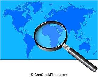 magnifier, 世界地図