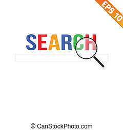 magnifier, 大きくなる, ∥ために∥, 捜索しなさい, 概念, -, ベクトル, イラスト, -, eps10