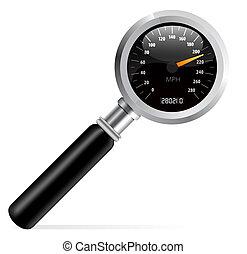 magnifier, 速度計