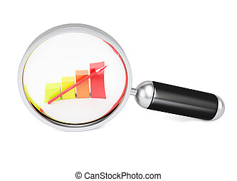 Magnifier and growth chart