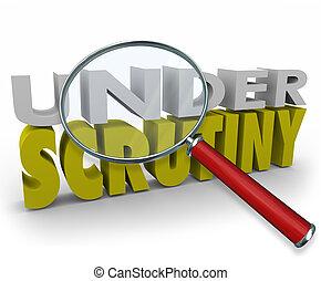 magnifier, examen minutieux, soupçon, investigation, sous, ...