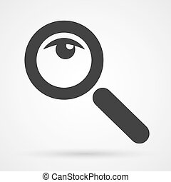 magnifier glass and eye icon