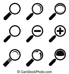 Magnifier Glass Icons