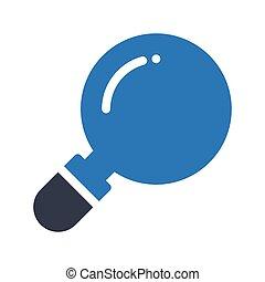 magnifier glyph color icon
