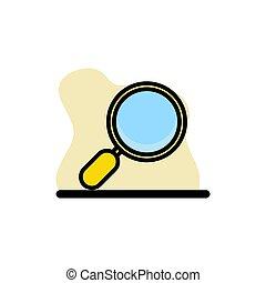 Magnifier Icon Conceptual Vector Design Illustration