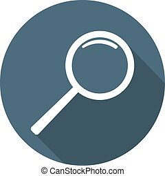 Magnifier Icon. Flat Style. Vector illustration for Your Design, Web.